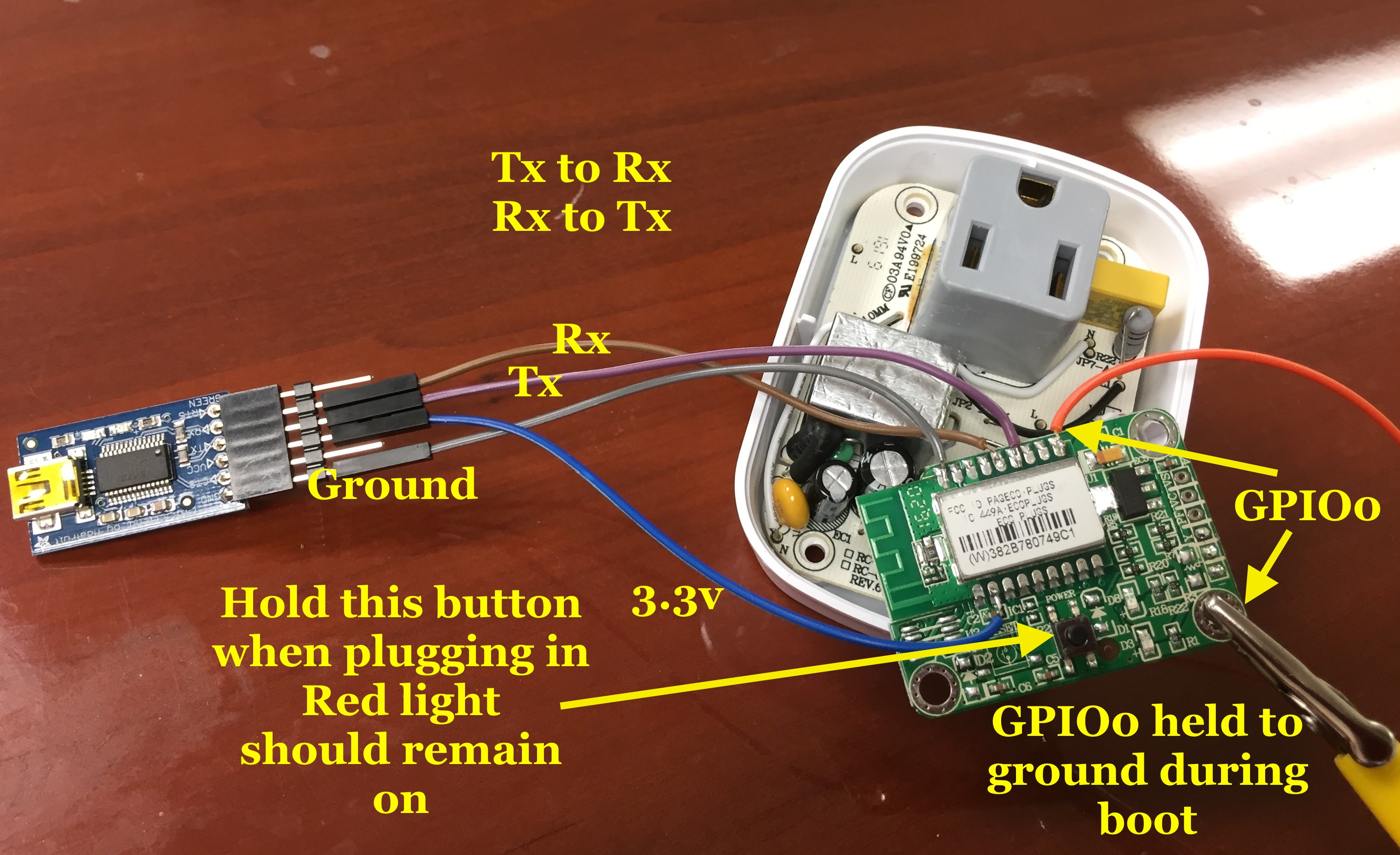 Network Johns Musings Reverse Wall Jack Wiring Gpio 0 Held To Ground I Used An Alligator Clip Do This