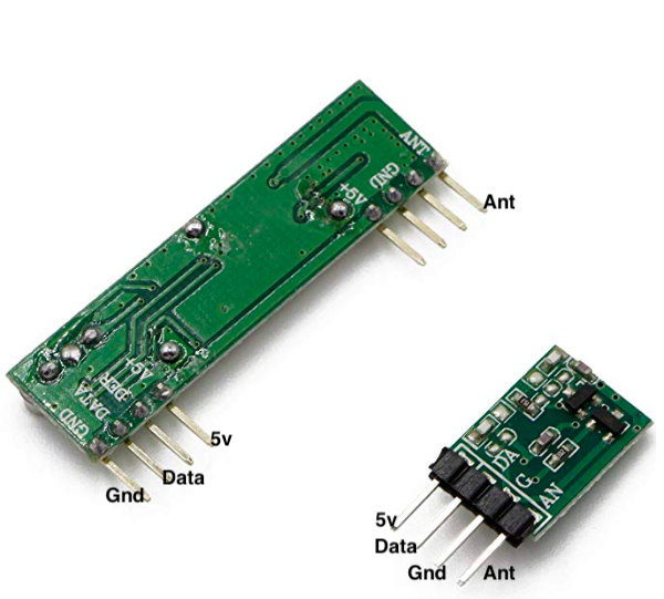 Connect an RF 433 MHz Transmitter and Receiver to a