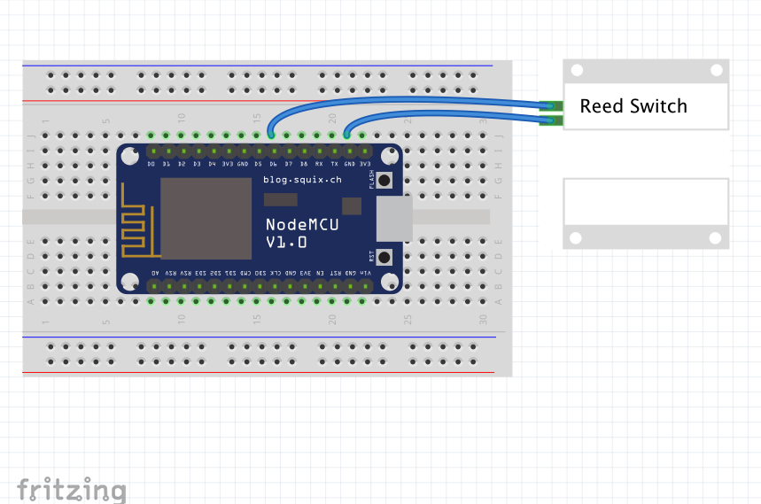 Making a simple door sensor from ESP8266 | John's Tech Blog