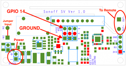 Sonoff SV for Garage Door Opener | John's Tech Blog